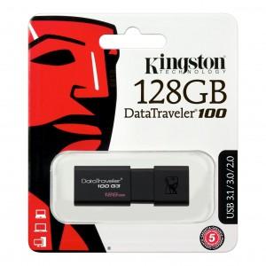 USB RAM KINGSTON 128GB DT100 G3 USB 3.0