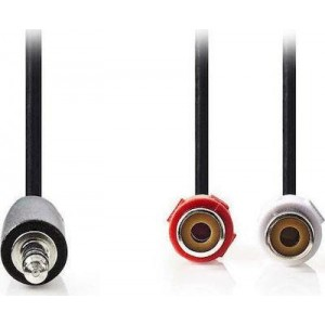 CABLE AUDIO STEREO 3.5mm Male 2 x RCA Female 0.2m