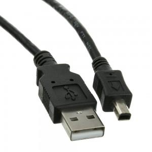 CABLE USB 2.0 AMale-USB Male mini 4pin 1.8m