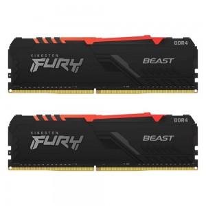 RAM KINGSTON DDR4-3200MHz 16GB (2X8) FURY BEAST RGB